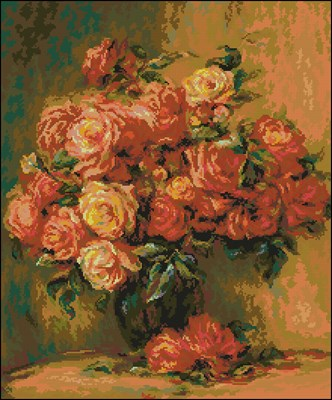 1402 Bouquet of Roses (Renoir)
