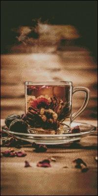 чай схема вышивки