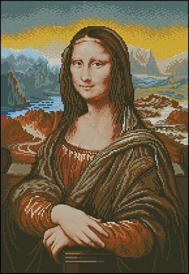 Мона Лиза схема вішивки крестом