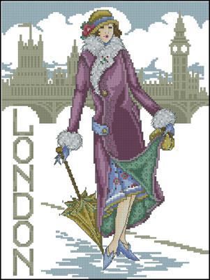 London lady схема крестиком