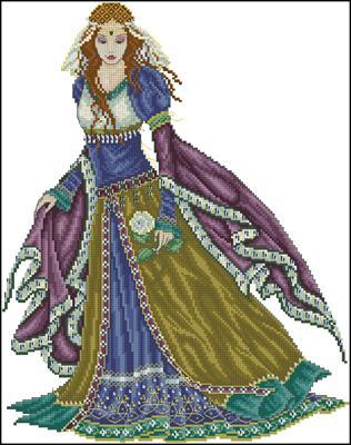 Medieval lady схема вышивка скачать
