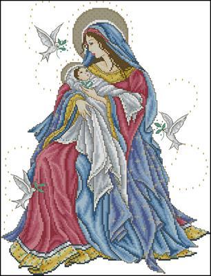 Motherly Devotion схема вышивать