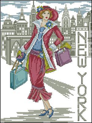 New York lady схема скачать бесплатно