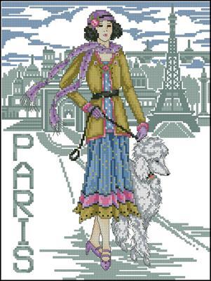 Paris lady схема крестиком