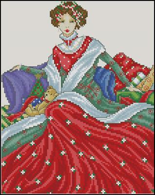 Victorian lady схема вышивки