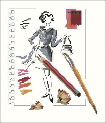 Carnet de croquis схема вышивки крестиком
