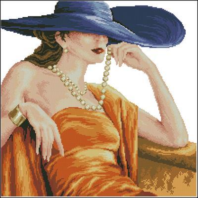 Роковая женщина вышивка схема