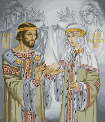 Петр и Феврония Муромские схема вышивки крестиком скачать