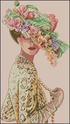 The Victorian Elegance схема вышивки крестиком