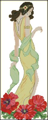 Фея алых маков схема вышивки крестом