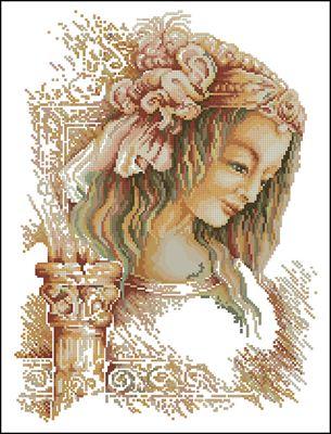 Woman by Da Vinchi вышивка крестом схема