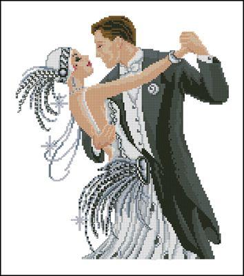 Танец пары схема вышивки