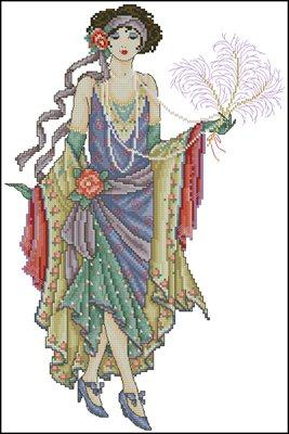 Glamorous lady схема вышивки крестом