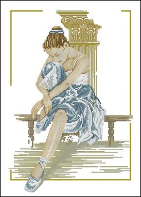Юная балерина вышивка крестом