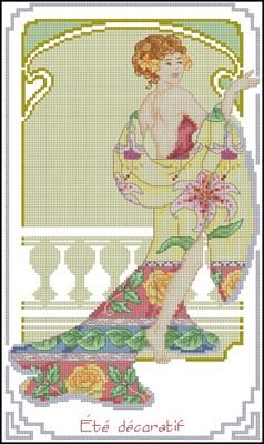 Ete Decoratif схема вышивки крестом скачать бесплатно