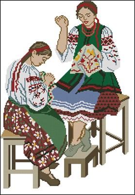 Вышивальщицы схема вышивки крестом скачать