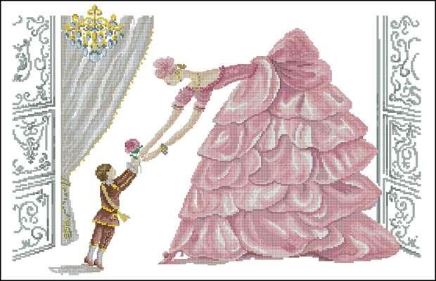 Bedtime in rose вышивка крестом
