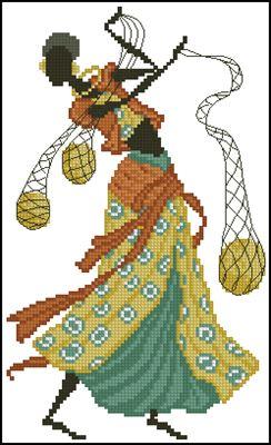 African Women вышивка крестиком