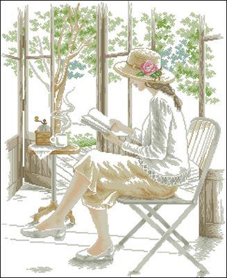 Rest with coffee схема вышивки крестом