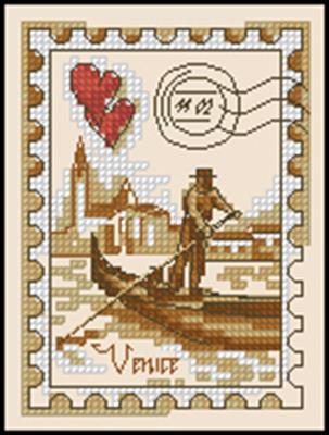 Марка Венеция схема вышивки крестиком