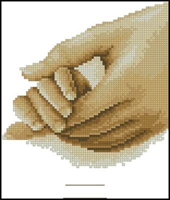 Hold my Hand вышивка крестом схема бесплатно