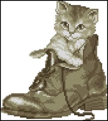 в ботинке схема вышивки