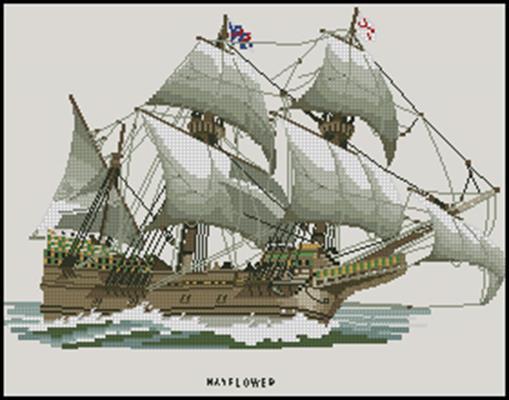 Mayflower схема крестиком