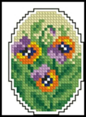 Пасхальное яйцо 2 схема вышивки крестиком