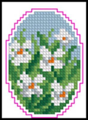 Пасхальное яйцо 3 схема вышивки крестиком
