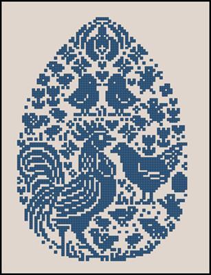 Vovo Huhnerosterei Blau вышивка схема Пасха