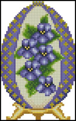 Violet Easter Egg вышивка крестиком