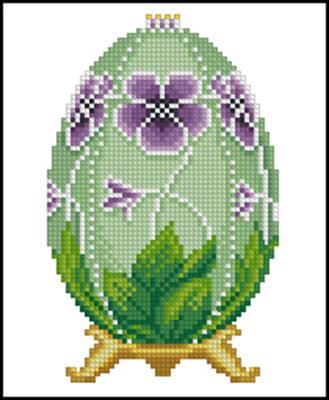 Pansy Faberge Easter Egg вышивка скачать