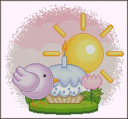 Per la Pasqua схема вышивки крестиком