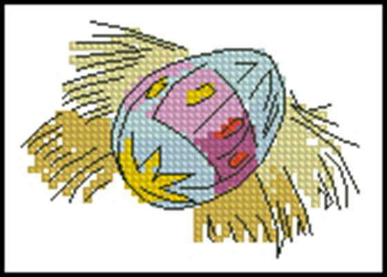 Крашанка схема вышивки крестом