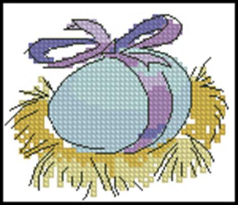 Яичко на сене схема скачать