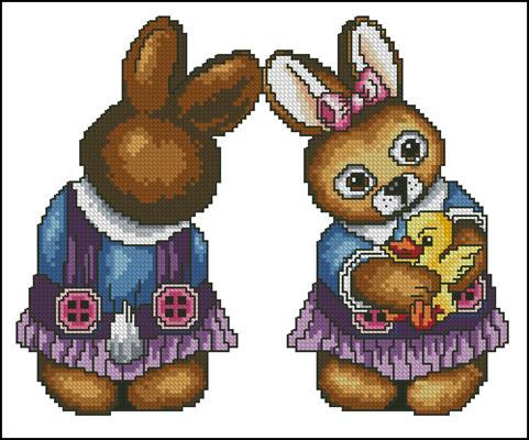 Vielranoc Easter Rabbit she схема скачать вышивка крестом