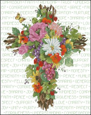 Summer Cross схема вышивки крестом