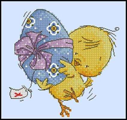 Цыпленок схема вышивки