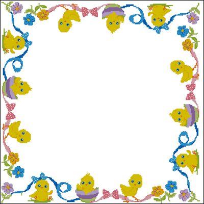 Детская пасхальная салфетка вышивка крестиком