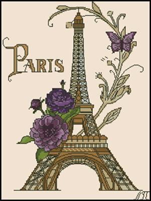 Париж схема вышивки