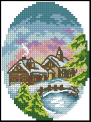 Новогодняя открытка 2 вышивка крестиком схема бесплатно