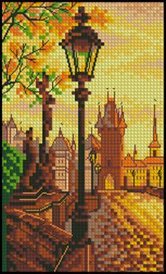 Карлов мост. Прага схема вышивки крестиком скачать бесплатно