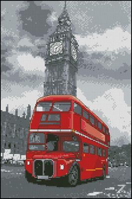 London Bus вышить крестиком