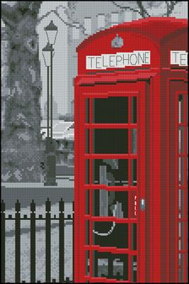 London telephone схема вышивки крестиком
