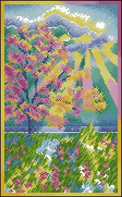 Pastel Garden вышивка крестом схема бесплатно