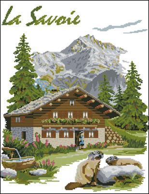La Savoie-PC6-17 схема вышивки крестом скачать бемплатно