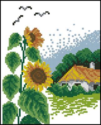 Осень (времена года) схема вышивки