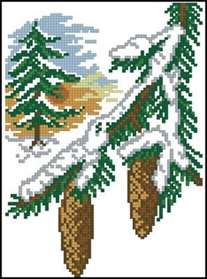 Зима (времена года) схема вышивки крестом