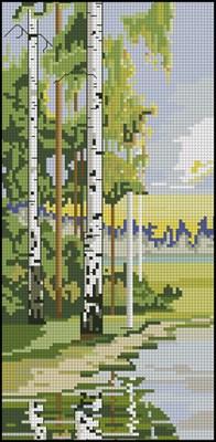 фото пейзаж березы схема вышивки