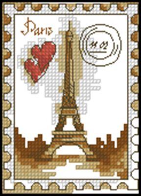 Марка Париж схема вышивки крестом